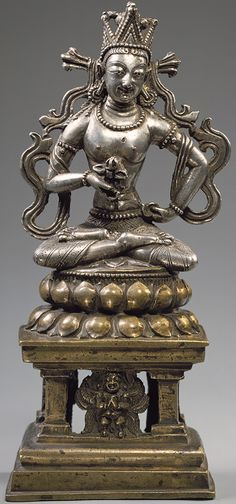10th-11th century, Himachal Pradesh, Vajravidarana, silver with bronze and copper inlay, at the Metropolitan Museum of Art (USA).