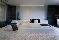 INFINITY BED ONLY ALL IN BLACK WITH WHITE ACCENTS