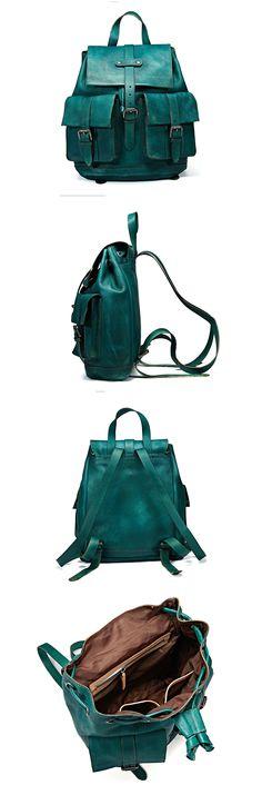 Handmade Full Grain Genuine Leather Large Backpack Travel Backpack