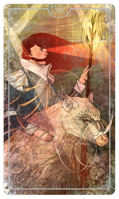 Knight of Wands - Julia Iredale - Ostara Tarot