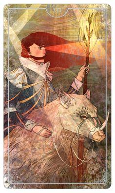 Knight of Wands - Julia Iredale - Ostara Tarot