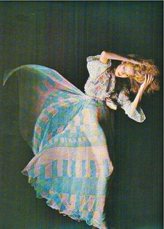 Ossie Clark dress photographed by Barry Lategan, 1976.