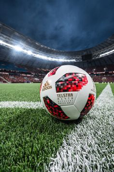 The adidas Telstar Mechta is the Official Match Ball for the knockout stages of the 2018 FIFA World Cup Russia™, bringing with it a new vivid red design inspired by the colours of the host nation, as well as the rising heat of knockout stages football. Adidas Football, Football Neymar, Football Love, Football Is Life, Football Images, Sport Football, Life Soccer, Messi Soccer, Soccer Sports