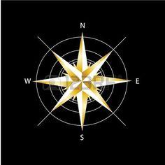Золотой компас роза photo