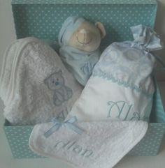 Canastilla de bebe?la de Alan nos ha quedado muy elegante#canastillasbebe #babyshowers #bordadospersonalizados #Bautizos
