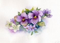 House of Windsor Pansies Painting by Renee Chastant - House of Windsor Pansies Fine Art Prints and Posters for Sale