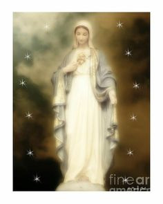Blessed Mother Mary, Divine Mother, Blessed Virgin Mary, Catholic Art, Religious Art, Religious Paintings, Roman Catholic, Images Of Mary, Lady Of Fatima