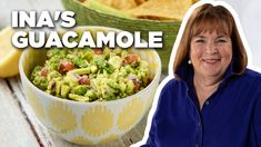 How to Make Ina's Guacamole Food Tv Network, Food Network Recipes, Mexican Food Recipes, New Recipes, Ethnic Recipes, Quick Recipes, Party Recipes, Mexican Dishes, Crockpot Recipes