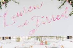 Lauren & Jarred. Paxton Winery, McLaren Vale. We do EPIC. #wedding#eventstyling #emkhostyle#weddingstyling#emkhoacreativecollectiveConcept & styling by www.emkho.com Bridal Table, Different Tones, Pretty Pastel, Votive Candles, Signage, Backdrops, Hand Painted, Wedding, Color
