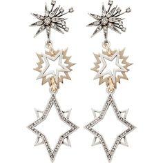Lulu Frost Cosmic Earrings (16,545 PHP) ❤ liked on Polyvore featuring jewelry, earrings, lulu frost jewelry, lulu frost, earring jewelry, galaxy earrings and cosmic jewelry