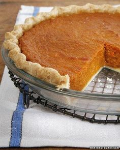 Sweet Potato Pie recipe - from Danny Glover via Martha Stewart. But I recommend baking the sweet potatoes - really intensifies their flavor, the way roasting does for all vegetables!