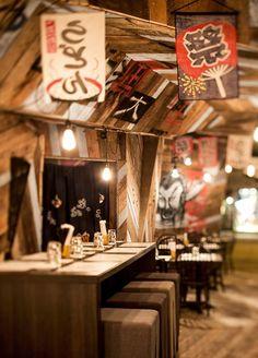 Design japonisant unique au Kinoya Izakaya à Montréal