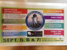 Norwalk CT, Oyster Festival. September 5th, 6th, and 7th 2014.