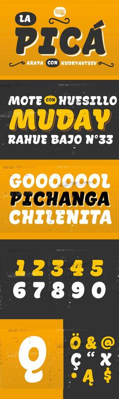 La Pica - Serif Display Font - Regular, Shine, Shadow, Layer, shine, Dingbat. By Rodrigo Typo. $45. #typeface #retro #vintage #handlettering #affiliatelink