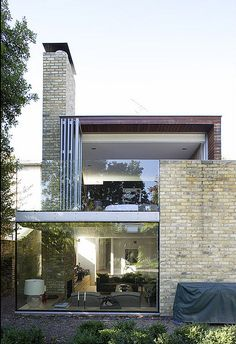 glass wall opens all the way #modern