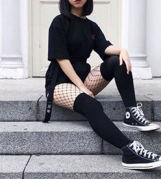 Grunge Outfits, Punk Outfits, Gothic Outfits, Cute Casual Outfits, Girl Outfits, Alternative Outfits, Alternative Mode, Alternative Fashion, Egirl Fashion