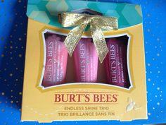 BURT'S BEES ENDLESS SHINE TRIO GIFT SET LIP SHINE NEW IN BOX! #BurtsBees