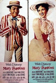 Mary Poppins poster, 1964. One of my favorite childhood Disney movies.
