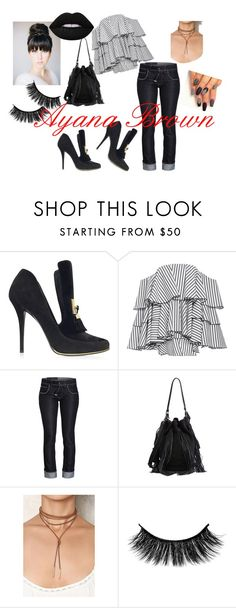 """""""Hammer"""" by ayanabrown on Polyvore featuring Balmain, Caroline Constas, Loeffler Randall and Lime Crime"""