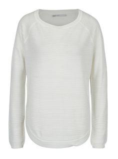Pulover alb cu dungi in relief ONLY Caviar Caviar, Sweatshirts, Sweaters, Fashion, Moda, Fashion Styles, Trainers, Sweater, Sweatshirt