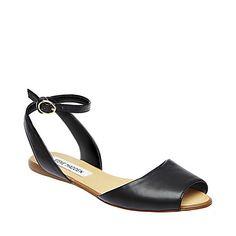 LENNIX BLACK women's sandal flat ankle strap - Steve Madden