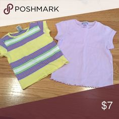 Lil girls shirts 2 shirts both wore very few times Shirts & Tops Tees - Short Sleeve