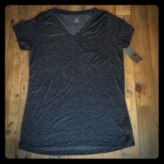 "Selling this ""Black V-neck T-shirt"" in my Poshmark closet! My username is: mbandino. #shopmycloset #poshmark #fashion #shopping #style #forsale #Mossimo #Tops"