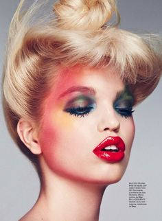 Daphne Groeneveld in Dior photographed by Txema Yeste for Harper's Bazaar Spain, April Makeup by Victor Alvarez. Makeup Inspo, Makeup Art, Makeup Inspiration, Hair Makeup, Pastel Makeup, Colorful Makeup, Beauty Make-up, Beauty Shoot, Hair Beauty