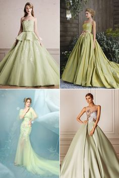 Green, the color of nature, has many different shades. From sophisticated emerald green, soft pastel mint, refreshing apple green, to free-spirit forest green, each hue represents a totally fresh and unique look. If green is your color, consider a statement-making green evening gown for your reception. Get inspired as we share some of our favorite …