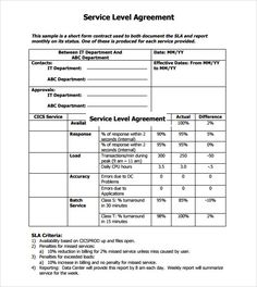 7 Best Service level agreement images in 2017 | Cleaning