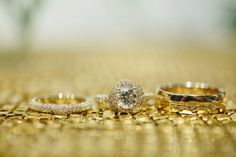 Glittering gold wedding ring photo [ BookingEntertainment.com ] #photography #events #entertainment