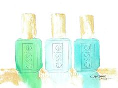love Love LOVE this Essie Nail Polish in Watercolor ... Need this for my bathroom, yesterday!