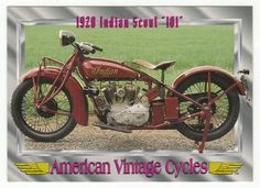 "American Vintage Cycles Series I # 97 - 1928 Indian Scout ""101"" - Champ 1992"