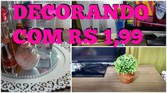 #DIY - Decorando a Sala / Cozinha / Quarto - com R$ 1,99 - Deixando a ca...