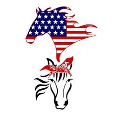 Available for FREE today only 6/13/18 - USA Flag Horse Cuttable Design Vinyl Paper, Cricut Vinyl, Horse Silhouette, Silhouette School, Usa Tattoo, Rockabilly Art, Apex Embroidery, Sublimation Paper, Horse Shirt