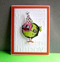Crazy birds - Homemade Cards, Rubber Stamp Art, & Paper Crafts - Splitcoaststampers.com Bird Cards, Dog Cards, Handmade Birthday Cards, Greeting Cards Handmade, Tim Holtz Stamps, Fancy Cats, Animal Cards, Crazy Bird, Crazy Dog