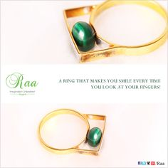A ring that makes you smile every time you look at your fingers!  #Gold #Ring #Customized #Handcrafted #Craftmanship #Raa #Chennai #lounge #jewelrylounge #jewelry