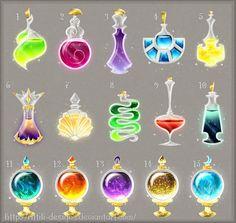 Potions (set 14) by Rittik-Designs on DeviantArt