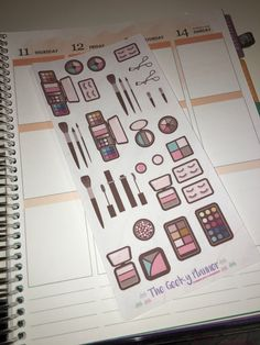 A personal favourite from my Etsy shop https://www.etsy.com/uk/listing/480309826/makeup-planner-stickers-great-for-erin