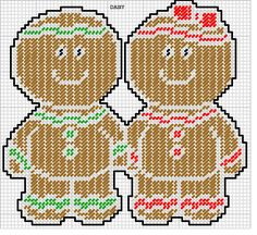 how to crafts ideas plastic canvas free santa pattern gingerbread goodie 4720