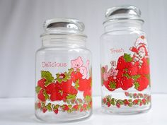 Canisters, Strawberry Shortcake, Vintage. I want these to go with my S & P shakers!!