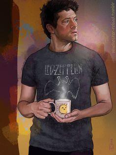 Art, Writing, and Destiel: Photo Supernatural Drawings, Supernatural Fan Art, Supernatural Wallpaper, Dean And Castiel, Dean Winchester, Decimo Doctor, Destiel Fanart, Misha Collins, Superwholock
