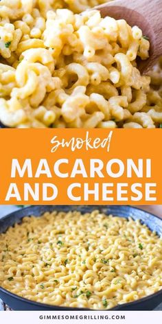 Make this Smoked Mac and Cheese on your Traeger today! It pairs will with any smoked meat or serve it as a main dish. Creamy, easy and delicious! #traeger #recipe