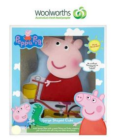 Peppa Pig cake ready-decorated from Woolworths - YES!!!