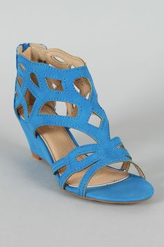 Bamboo Matthew-02 Caged Open Toe Wedge