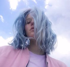 blue pastel bob