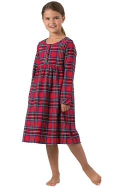 Stewart Plaid Flannel Girls Nighty in Girls Pajamas & Onesies (Size 6 -14) | Pajamas for Kids | PajamaGram Plaid Flannel, Cute Pajamas, Girls Pajamas, Flannel Nightgown, Gowns For Girls, Shirt Sale, Night Gown, What To Wear, Gowns