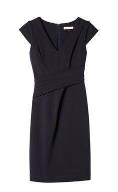 Asymmetrical V-Neck Dress   Rebecca Taylor