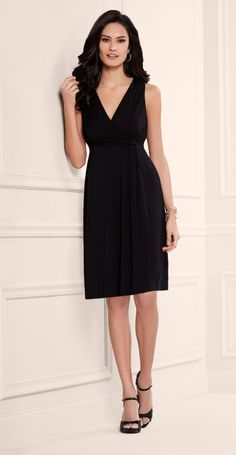 Luxurious Black Dress: Soma Side Twist Dress in Black #LoveSoma My Soma Wishlist Sweeps