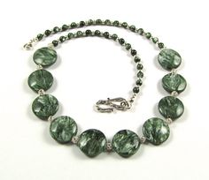 Seraphinite & Sterling Silver Necklace  N151 by TheSilverBear, $185.00